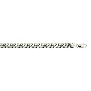 Silver Oval Curb 240 Chain 8.4mm