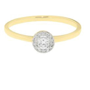 Yellow Gold and Diamond Bridal Ring