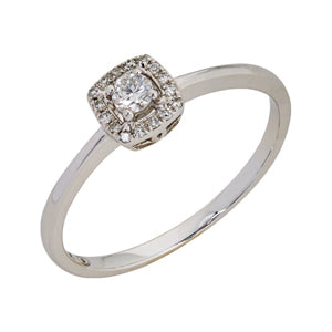 White Gold and Diamond Bridal Ring