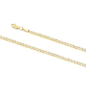2.6mm wide, 19cm Curb link bracelet