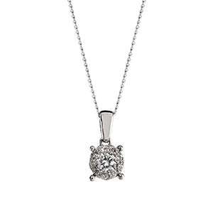 0.25ct Illusion Set Diamond Pendant
