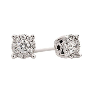 0.30ct Illusion Set Diamond Earrings