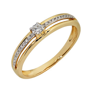 9kt Yellow Gold Diamond Ring