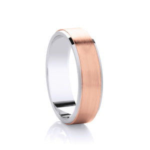 9kt Rose Gold and Argentium - Flat Rimmed