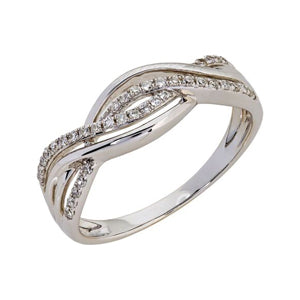 White Gold Diamond Dress Ring