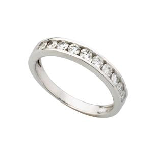 1ct 18kt white gold half eternity ring