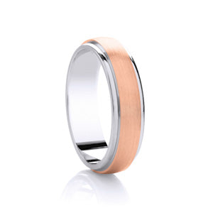 9kt Rose Gold and Argentium Rimmed