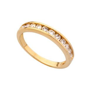 0.07ct 9kt Yellow Gold Half Eternity Ring