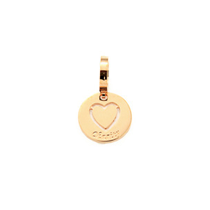Bronze Rose Plated Heart Disc Drop
