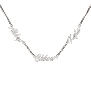 Memi Personalised Mini Three Name Necklace