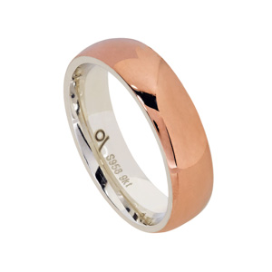 9kt Rose Gold and Argentium - Polished