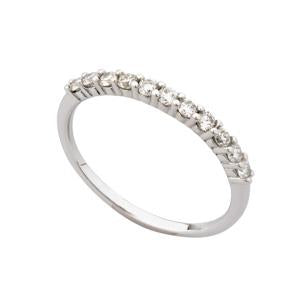 0.10ct 9kt White Gold Half Eternity Ring