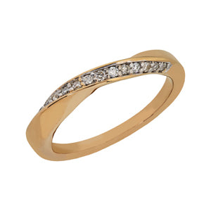 9kt Yellow Gold Twist Eternity