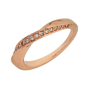9kt Rose Gold Twist Eternity