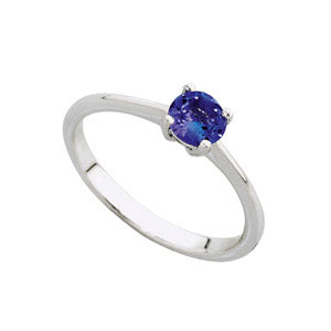 18kt White Gold 0.30ct Tanzanite Solitaire Ring
