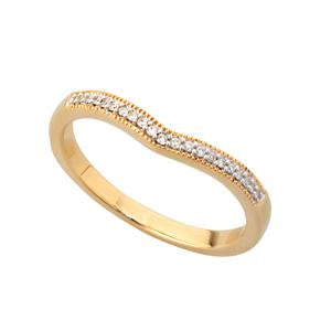 9kt Yellow Gold Curved Eternity Band