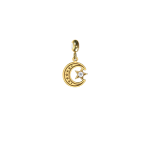 Memi Spiritual Crescent and Star Charm