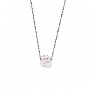 Memi Pebble Personalised Initial Necklace