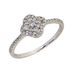 9kt White Gold Diamond Ring