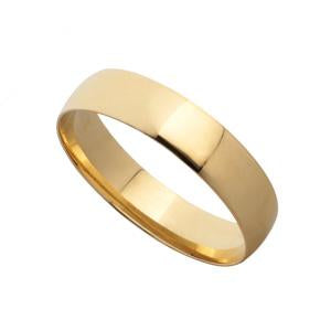 4mm 9kt Yellow Gold Wedding Band