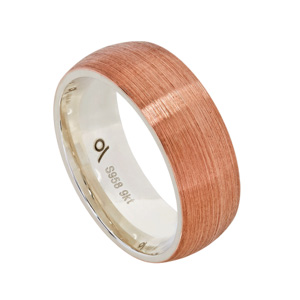 9kt Rose Gold and Argentium - Brushed
