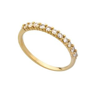 0.10ct 9kt Yellow Gold Half Eternity Ring