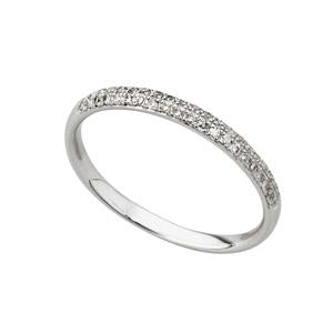 0.15ct 9kt white gold pave eternity band