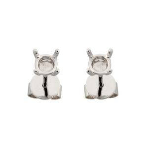 1.00ct 18kt White Gold Earring Mounts