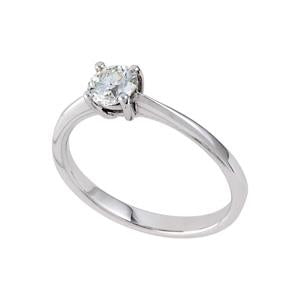 0.33ct Diamond Solitaire Engagement Ring