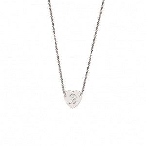 Memi Personalised Heart Initial Necklace