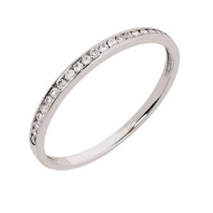 9kt White Gold Channel Eternity Ring 0.11ct