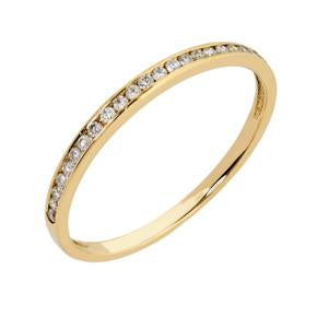 18kt Yellow Gold Channel Eternity Ring 0.11CT