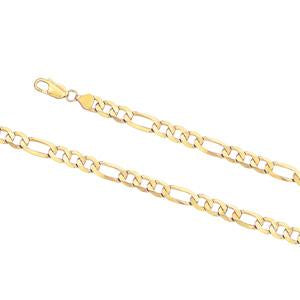 8mm Wide, 21cm Figaro 3+1 bracelet