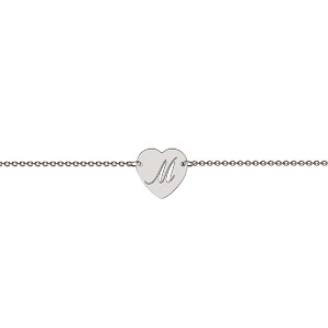 Memi Personalised Heart Shape Bracelet