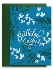 Birthday Wishes Botanical Card
