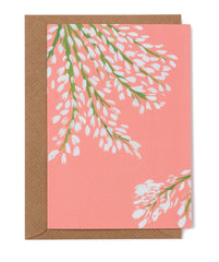 White Blossom Floral Card