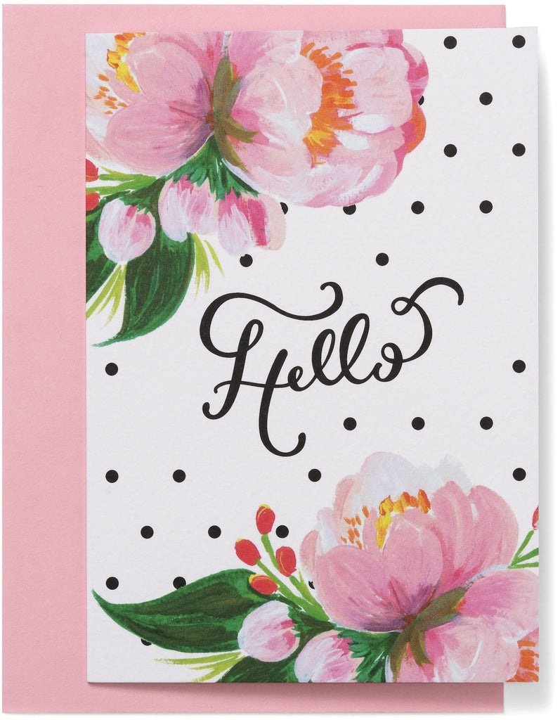 Polka Dots Hello Card