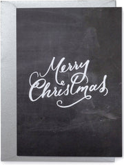 Merry Christmas Chalkboard Card