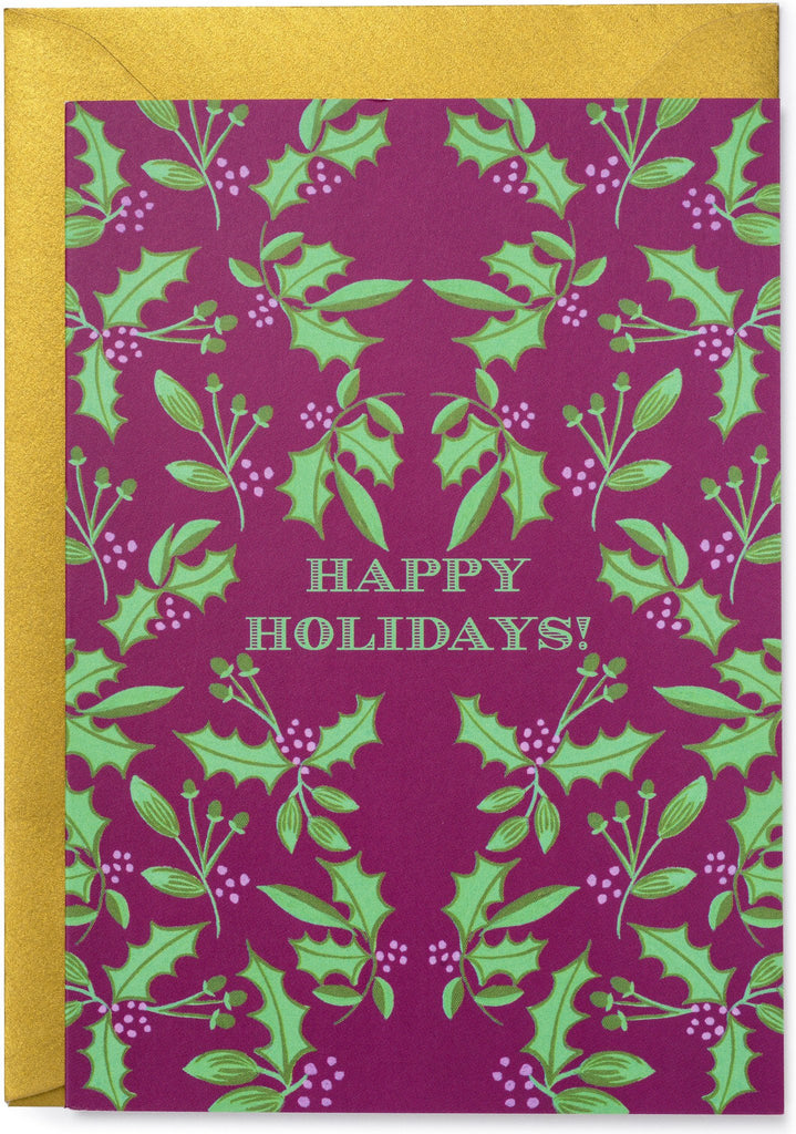 Happy Holidays Folk Card