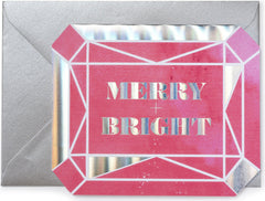 Merry+Bright Gem Christmas Card