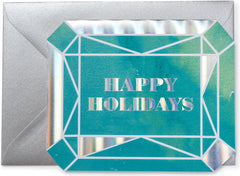 Happy Holidays Gem Christmas Card