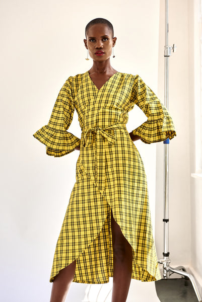 Wrap Dress - Yellow