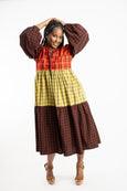 Maasai Shuka Dress - Long No. 7