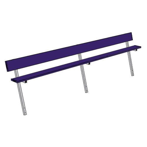 Jaypro 15' Player Bench w/Seat Back (Permanent)