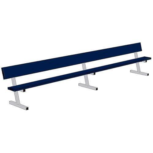 Jaypro 15' Player Bench w/Seat Back (Portable)