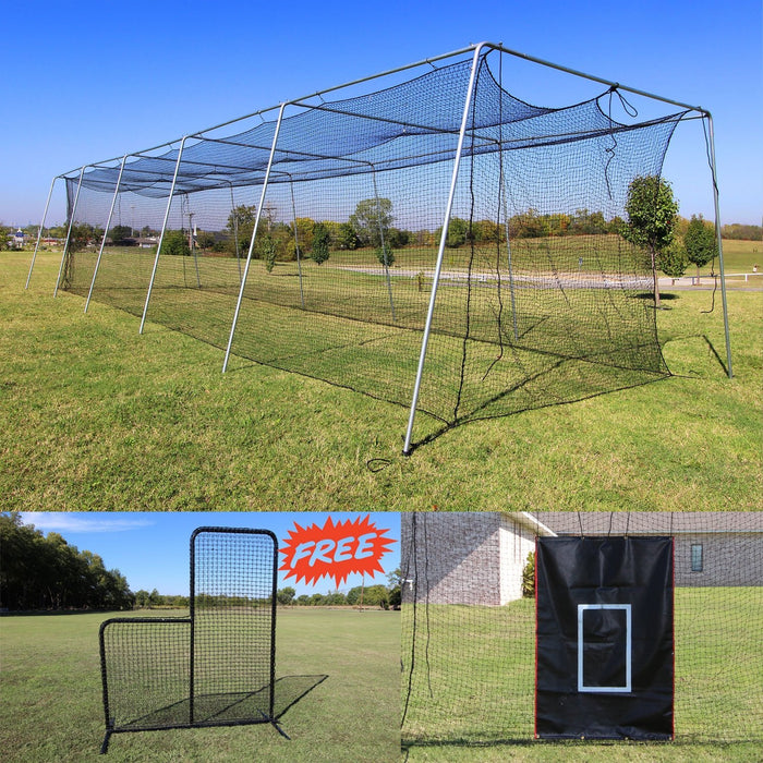 Cimarron Baseball 50' Complete Frame and Batting Cage Bundle