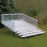 JayPro 10 Row Enclosed Aluminum Bleacher With Guard Rail