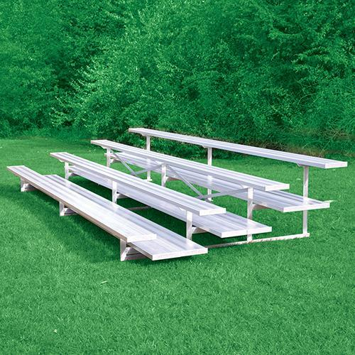 Jaypro 4 Row 27'' All Aluminum Preferred Bleacher