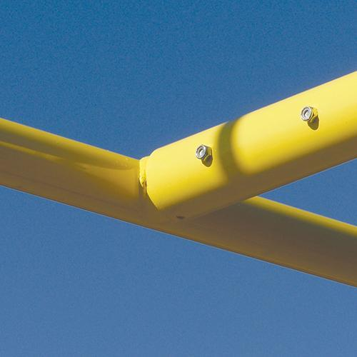 JayPro 6' Offset x 20'' Upright Collegiate Football Goal Post Semi/Perm