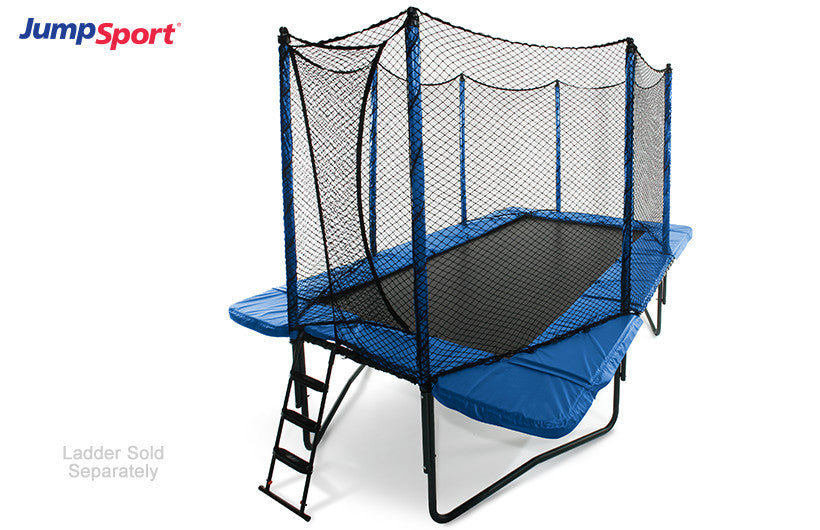 Jumpsports Rectangular Trampoline with Enclosure